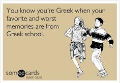 Greek school nightmares and memories Greek Sayings, Greek Quotes, Greek Memes, Funny Greek, American Humor, Greek Girl, Funny Memes, Jokes, Greek Culture