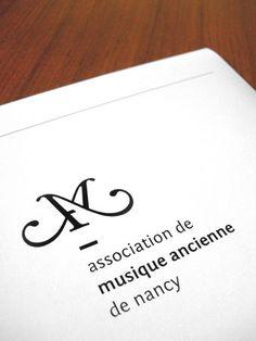 Association de Musique Ancienne de Nancy (AMAN) / #logotype #typography / Studio Punkat / Hugo Roussel