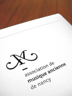 Association de Musique Ancienne de Nancy (AMAN) / #logotype #typography / Studio Punkat / Hugo Roussel