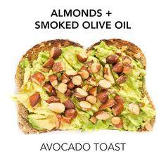 Smoked almond avocado toast