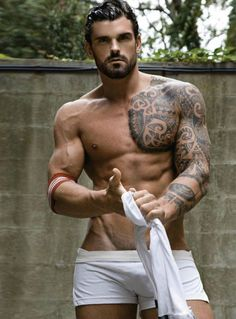 British Model former Rugby Union Player Stuart Reardon by Rick Day shot at NYC