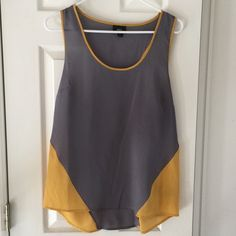 Grey and mustard racer back blouse tank Looks great on its own or under a jacket for a work top. Mossimo Supply Co Tops Blouses