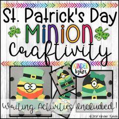St. Patrick's Day Minion Craft by Kinder Tykes  | TpT