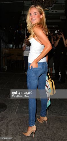 Kimberley Garner attending the Rock Your Jeans party at the Jewel Bar on September 2013 in London, England. Get premium, high resolution news photos at Getty Images Mini Skirt Dress, Mini Skirts, Beautiful Models, Beautiful Actresses, Cute Casual Outfits, Sexy Outfits, Garner Style, Kimberley Garner, Sexy Legs And Heels
