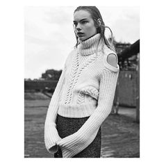 The Alexander McQueen Pre AW15 ivory knitted jumper featured in @vogueitalia  Photographer: #KarimSadli  Stylist: #JoeMcKenna  #AlexanderMcQueen