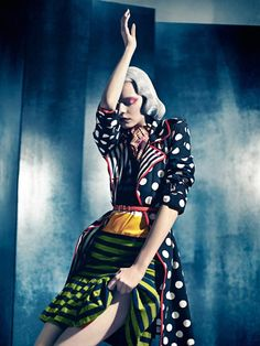 The mash-up Photo of Nimue Smit, in Louis Vuitton and Moschino, by Sebastian Kim for Numéro Fashion Prints, Fashion Art, High Fashion, Fashion Today, Fashion Models, Editorial Photography, Fashion Photography, Color Photography, Creative Photography