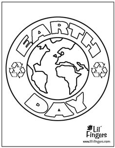 126 Printable Earth Day Coloring Pages for Kids: Printable Earth Day Coloring Pages at Lil' Fingers