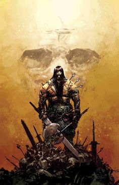 Conan arrives, the Guardians of the Galaxy re-form, Spider-Man gets a new comic and more, as Marvel celebrates the new year with new comics! Dark Fantasy Art, Fantasy Artwork, Dark Art, Conan Der Zerstörer, Comic Books Art, Comic Art, Conan The Barbarian Comic, Barbarian King, Conan Der Barbar