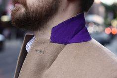 Pop of colour under his collar