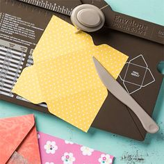 Envelope Punch Board!  Fantastic for making unique envelopes to match your handmade cards... Also great for boxes!