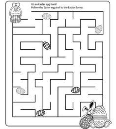 Easter Mazes worksheet      Crafts and Worksheets for Preschool,Toddler and Kindergarten