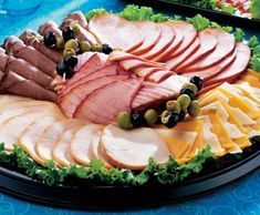 wedding buffet food - Platters of Honey Roast Ham