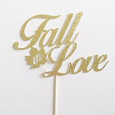 Fall bridal shower cakes Fall in love! This Fall in Love cake topper is the perfect addition to any fall wedding, bridal shower or engagement party! Fall Wedding Decorations, Bridal Shower Decorations, Decor Wedding, Wedding Venues, Fall Engagement Parties, Engagement Brunch, Fall In Love Bridal Shower, Love Cake Topper, Personalized Wedding Cake Toppers