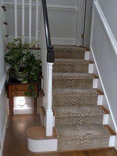 Linus The Leopard Print Stair Runner {Kate Nisbet Designs} (Step Stairs  Carpets)