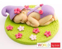 Fondant Baby Elf Cake Topper Fondant Baby Cake by WorldByGabi