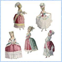 Marie Antoinette Paper Dolls by Darvahlous on Etsy