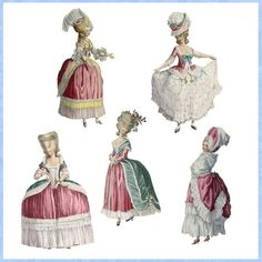 Marie Antoinette Paper Dolls by Darvahlous on Etsy* 1500 free paper dolls at artist Arielle Gabriel's The International Paper Doll Society also free China and Japan paper dolls at The China Adventures of Arielle Gabriel for my Pinterest pals *
