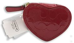 Coach Embossed Liquid Heart Jewelry Pouch Red ** Find out more about the great product at the image link. (Note:Amazon affiliate link) #WomenLuxuryWatches