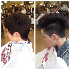 Around the ears and off the collar tidy up at the barbers