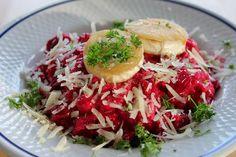 Huvilaelämää ja mökkiruokaa: Punajuuri-vuohenjuustorisotto maistuu syksylle