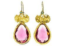 Fuchsia Swarovski Crystal Earrings