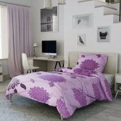 Krepové povlečení fialové květuny květy gerbera Gerbera, Bed, Furniture, Home Decor, Decoration Home, Stream Bed, Room Decor, Home Furnishings, Beds