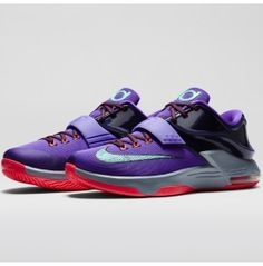 brand new bbeed f66e3 Nike Men s KD VII Basketball Shoe - Purple Grey Turquoise   DICK S Sporting  Goods