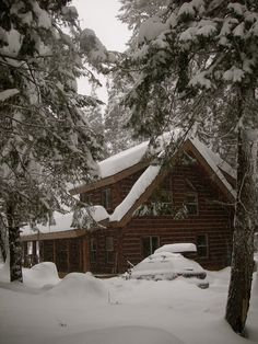 Let it snow! McCall Idaho Cabin vacation cabin ...similar to the one our friends own, where we stayed. Awesome spot.