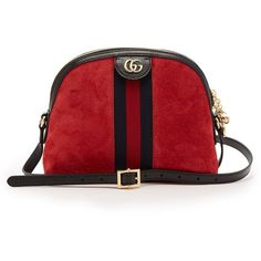 Gucci Ophidia suede cross-body bag (3940 TND) ❤ liked on Polyvore featuring bags, handbags, shoulder bags, red, crossbody shoulder bag, suede crossbody, gucci purse, red purse and red cross body purse
