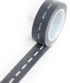 Charcoal Divided Highway Road Stitching washi tape #homespunsociety #washi #diy