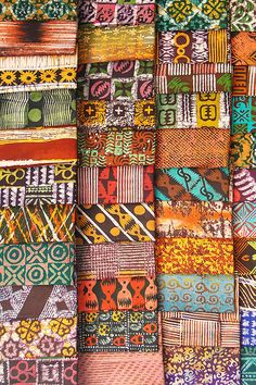 In Kumasi, Nustyle wax print method which is popular in Ghana these days, incorporating adinkra symbols for patterns. This will be great for curtains in the bedrooms.