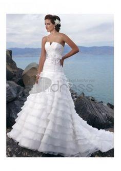 Abiti da Sposa Spiaggia-Senza spalline scollatura volant spiaggia abiti da sposa spiaggia