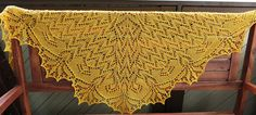 Golden Orchid – a free pattern for a knit lace... | Stitchery Witchery