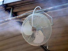 Diy Misting Fan. Outdoor ...