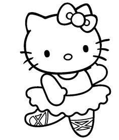 Coloring Pages Hello Kitty Clipart Images Scrap Clever Drawings Research