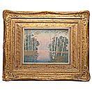 Rookwood Vellum Landscape Plaque by E.T. Hurley - Cowan's Auctions