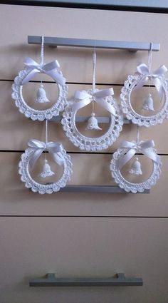 Best 12 crochet patterns in thread – SkillOfKing.Com - Her Crochet Crochet Christmas Decorations, Christmas Crochet Patterns, Crochet Ornaments, Crochet Christmas Ornaments, Crochet Decoration, Crochet Snowflakes, Holiday Crochet, Angel Ornaments, Beaded Ornaments