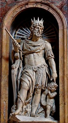 Statue of King David in Rome, Italy
