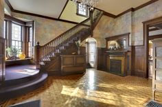 Entrance hall in 1881 home on Summit Ave in St. Paul, MN.