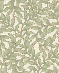Tapet Bladmönster Grön från Lim & Handtryck