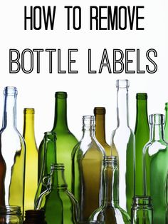 If you've ever struggled to remove a bottle label, this is for you.