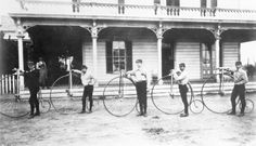1887 - 5 Riders of the Los Angeles Bicycle Club