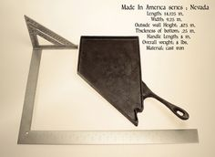 """Each of the """"Made In America"""" state pans are entirely unique, hand-cast,  made to order,limited edition reproductions of the original patterns used  to create the large interlocking map of 48 contiguous states of America.  Only 50 pans of each state will ever be produced."""