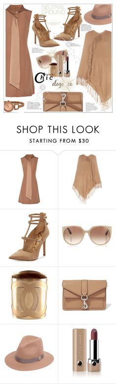 """Neutral"" by stranjakivana ❤ liked on Polyvore featuring ADAM, BCBGMAXAZRIA, Sam Edelman, Tom Ford, Chanel, Rebecca Minkoff, Roberto Cavalli, Marc Jacobs and DKNY"
