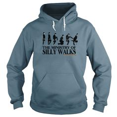 Monty Python The Ministry of Silly Walks T Shirts and Hooded Tops   Official Merchandise   Buy at https://www.sunfrog.com/Monty-Python-The-Ministry-of-Silly-Walks-White-Hoodie.html?6987