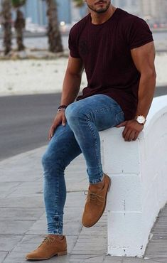 Fashion black men casual jeans 43 ideas for 2019 Casual Jeans, Casual Outfits, Men Casual, Casual Shoes, Men With Street Style, Street Style Summer, Trendy Fashion, Mens Fashion, Fall Fashion