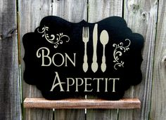 bon appetit french kitchen signs shabby vintage style 14 x 7 rh pinterest com  bon appetit signs for kitchen uk