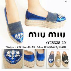Promo Sepatu Miu Miu Double Sol Wedges YC8328-20 35-40 +Box 290rb 1a0d769059
