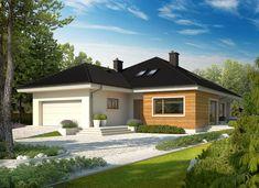 DOM.PL™ - Projekt domu AC Liv 3 G2 CE - DOM AF1-97 - gotowy koszt budowy Prefabricated Houses, Prefab Homes, Style At Home, Trombone, Villas, My House Plans, Affordable Housing, Detached House, Home Fashion