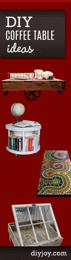 DIY Coffee Table Ideas   Do It Yourself Home Decor Projects   DIY JOY